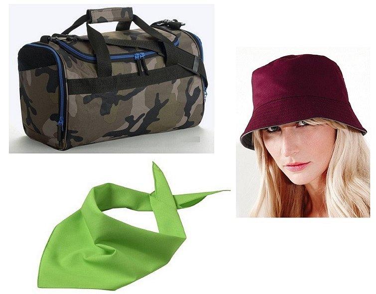 Soutěž o sportovní tašku, klobouk a šátek