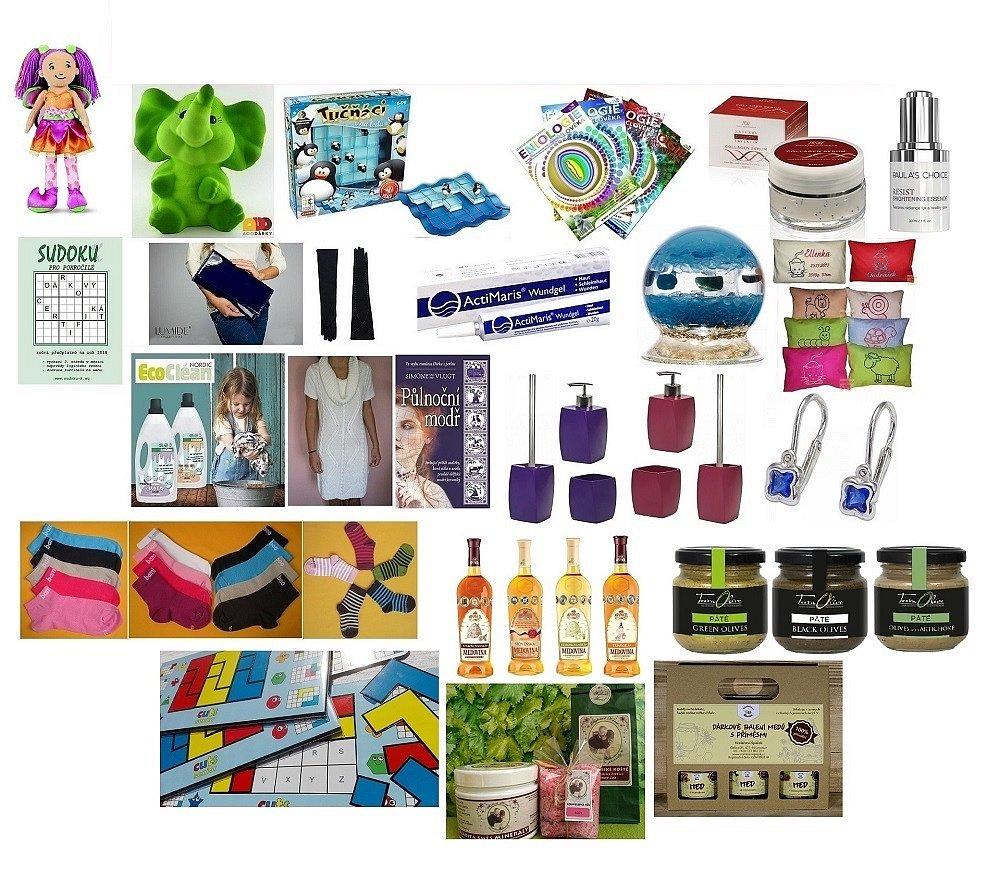 Soutěž o 30 výher - kosmetiku, potraviny, hračky...