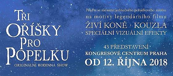Soutěž o vstupenky na originální rodinnou show Tři oříšky pro Popelku