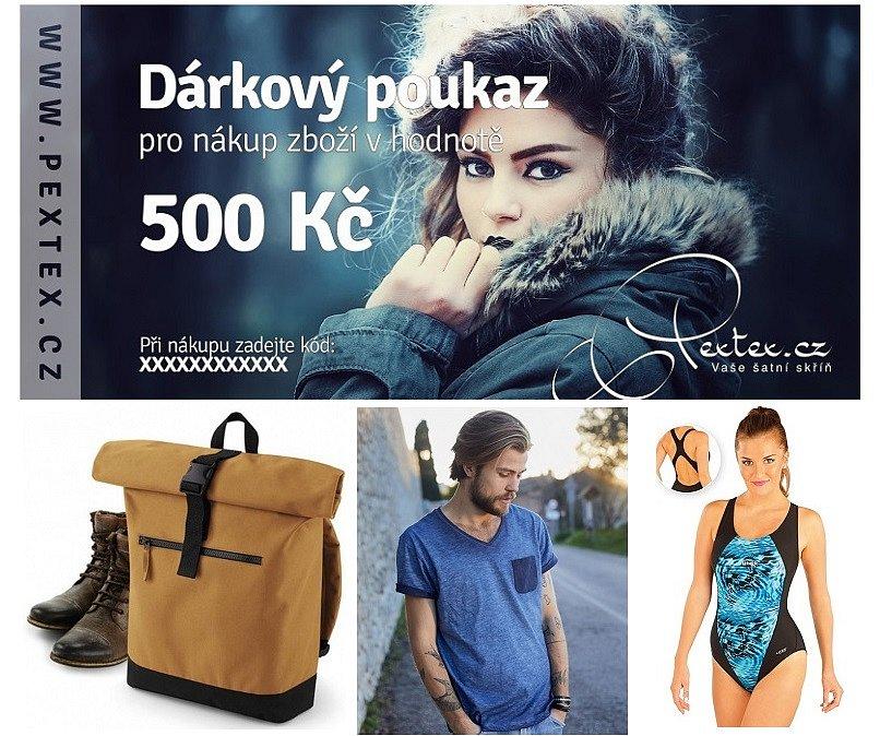 Soutěž o poukaz v hodnotě 500 Kč na nákup v e-shopu Pextex.cz