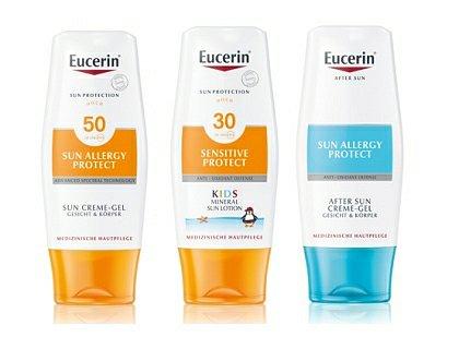 Soutěž o 10 balíčků péče o pokožku při opalování značky Eucerin