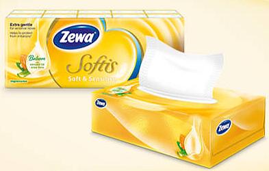 Vyhrajte 10x dárkový balíček kapesníčků Zewa Softis