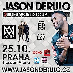 Soutěž o vstupenky na koncert JASON DERULO TOUR 2018