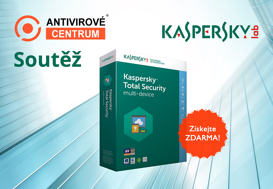 Velká šance získat antivir Kaspersky Total Security 2018