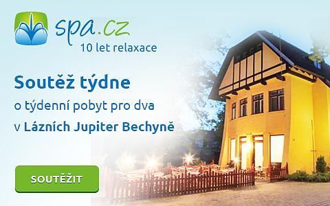 10 let Spa.cz - Soutěž o týdenní pobyt pro 2 v lázních Bechyně