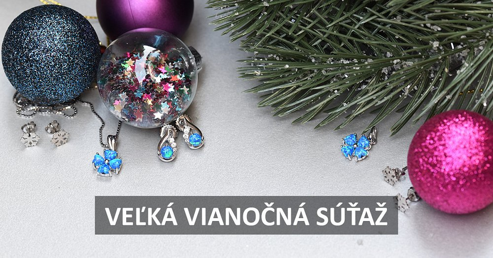 Velká vánoční soutěž o stříbrné a zlaté šperky