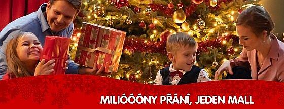 Soutěž o poukazy k nákupu vánočních dárků v nákupní galerii Mall