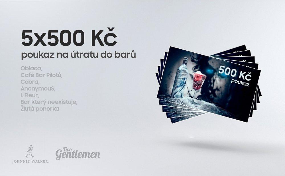 Soutěž o 5×500 Kč na útratu do barů