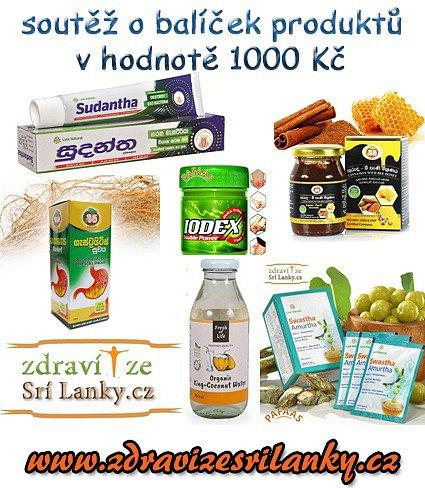 Soutěž o balíček produktů pro zdraví v hodnotě 1000Kč ze Srí Lanky