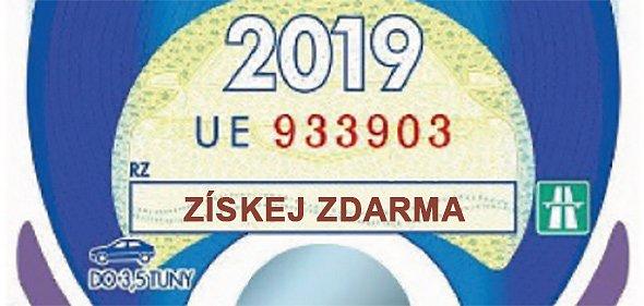 Získejte zdarma dálniční známku na rok 2019