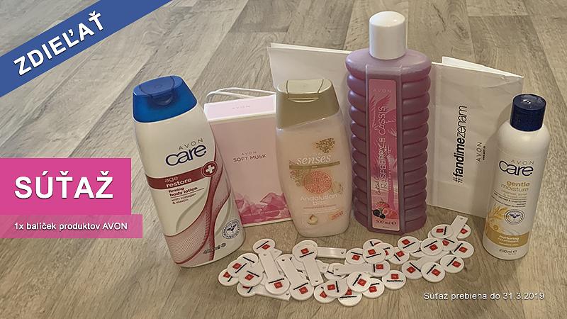 Súťaž o 1x balíček produktov AVON na našom facebooku