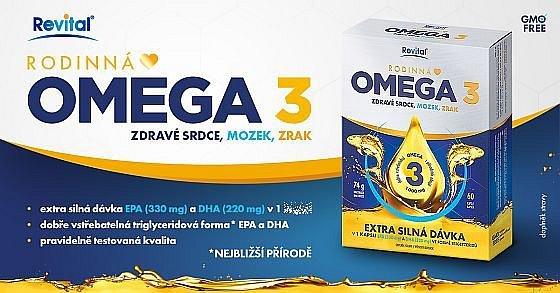 Soutěž o rodinnou Revital Omega 3 pro zdravý mozek, srdce a oči
