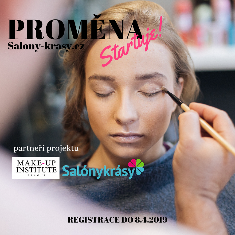 SOUTĚŽ: Proměna se Salony-krasy.cz, Pavlem Filandrem a Make-up Institute Prague
