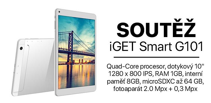Soutěž o elegantní tablet iGET Smart G101 s Androidem.