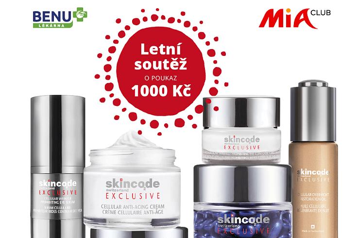 Letní soutěž MIA Clubu s BENU lékárnou o poukaz 1 000 Kč na produkty Skincode