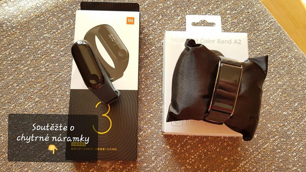 Soutěž o chytré fitness náramky Xiaomi a Huawei