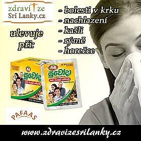 Soutěž o nápoj proti rýmě, kašli a nachlazení Suwoda Peyawa
