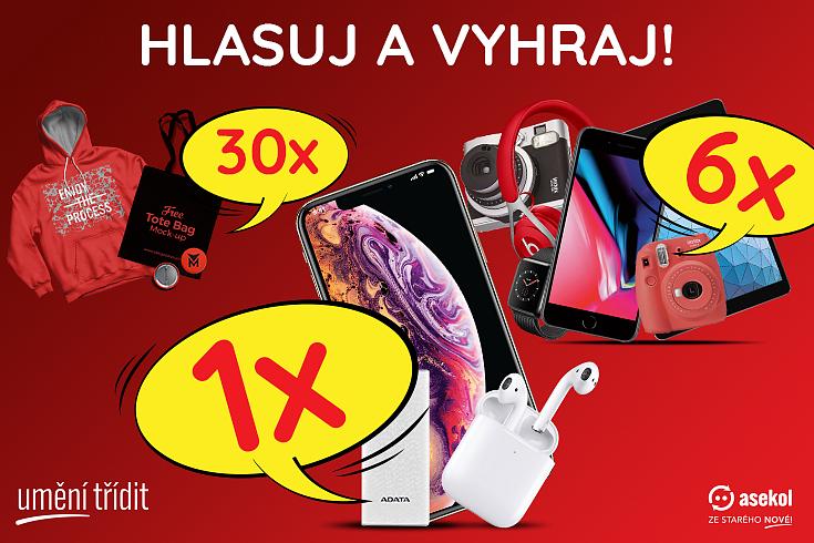 Hlasuj a vyhraj! Hlavní výhra iPhone XS 64 GB + AirPods + powerbanka.