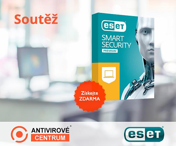 Velká šance vyhrát antivirus Eset Smart Security Premium zdarma