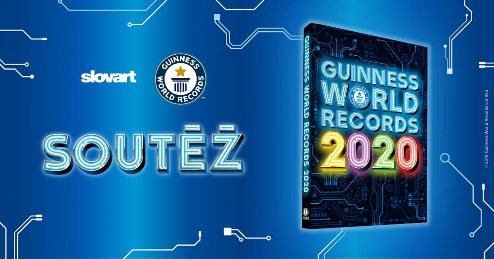 Soutěž o 3 výtisky knihy Guinness World Records 2020