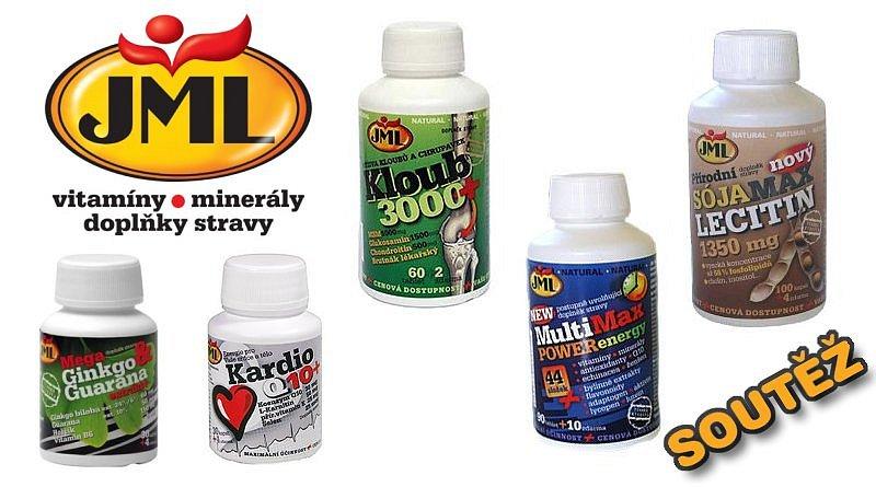 SOUTĚŽ o vitamíny, minerály a doplňky stravy značky JML
