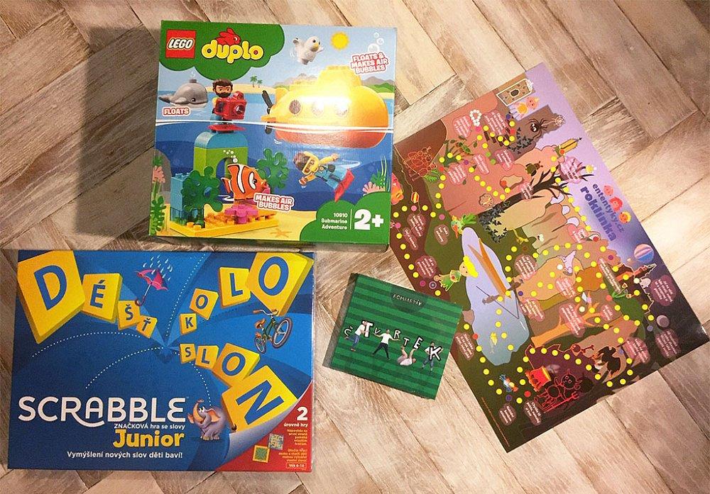 Soutěž o stavebnici Lego Duplo, hru Scrabble Junior a CD od Bombarďáka
