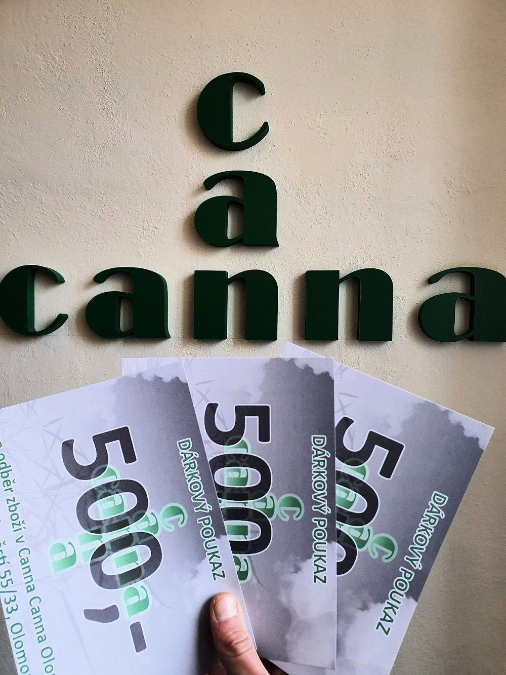 Soutěž o 3x voucher na 500 Kč do Canna Canna v Olomouci!