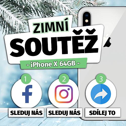 ZIMNÍ SOUTĚŽ O IPHONE X 64GB