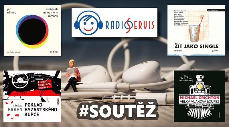 SOUTĚŽ o čtyři audioknihy z vydavatelství Radioservis