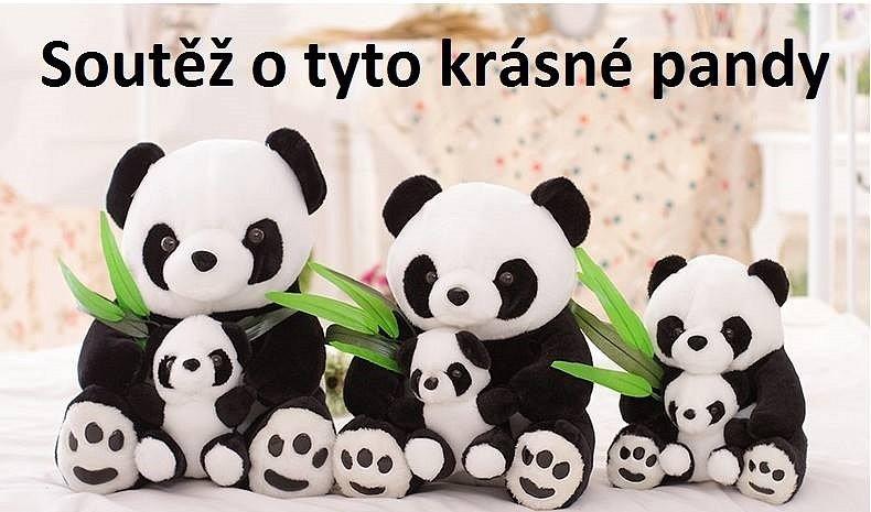 Soutěž o 3x krásnou plyšovou pandu