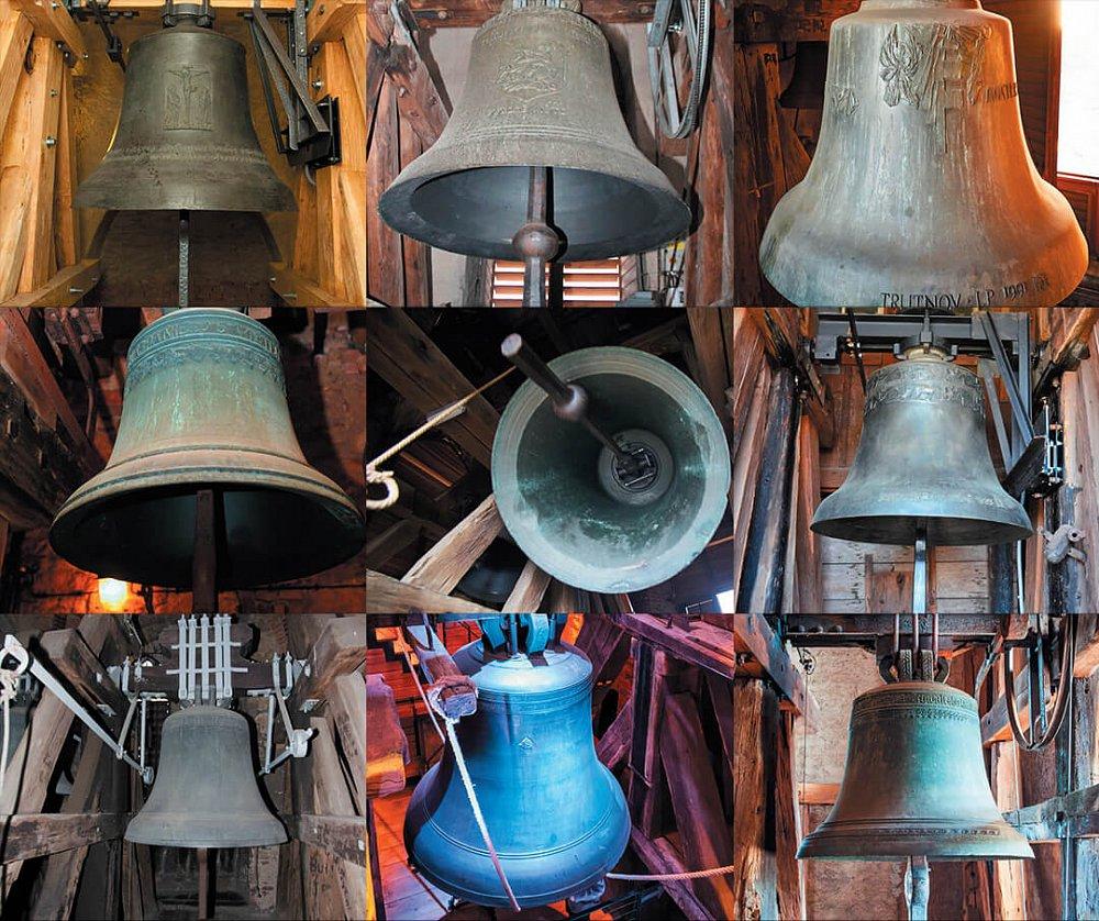Jaká jména nesou zvony ve věžích nejvýznamnějších památek královských věnných měst?