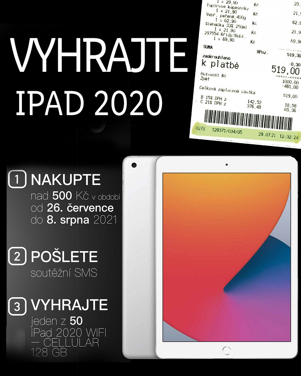 Vyhrajte 50x iPad 2020